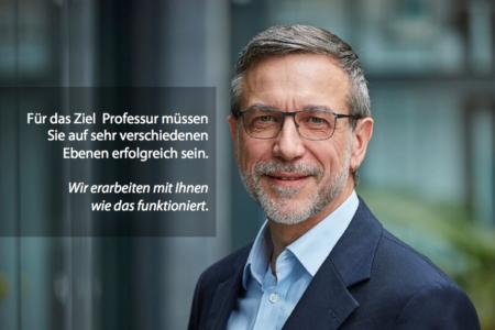 Photo des LSB Coaches Prof. Dr. Heinz Fehrenbach unterstützt Richtung Professur